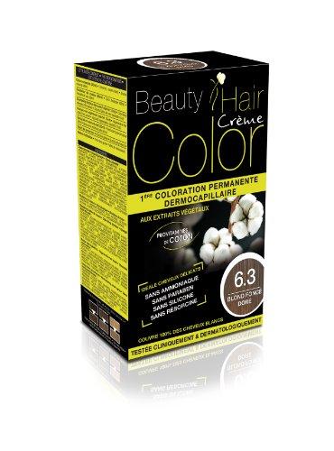 Beauty Hair Color - BHC63 - Coloration Permanente aux Extraits Végétaux - 6.3 Blond Fonce Dore