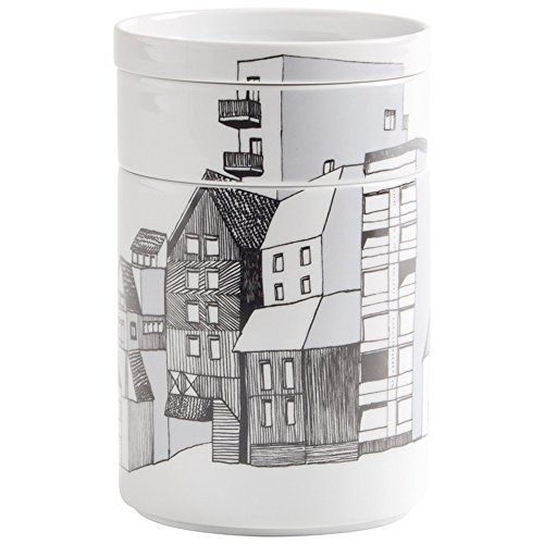 Kahla 39E288A11436C Bowl Set, 3-teilig Five Senses City Life, schwarz / weiß