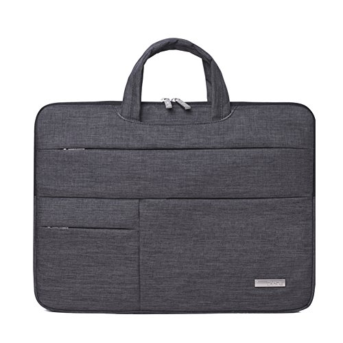 13.3 Inch MacBook Air Pro Bag Laptop Sleeve for Surfacebook Protective Carrying Handbag Cover with Zipper Pockets for 12' 13' Lenovo Dell Toshiba HP ASUS Acer Chromebook Notebook -Dark Grey