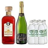 vins&co barcelona Pack Perucchi Aperitivo Spritz + 1 botella de Cava Rovellats Reserva Imperial + 6 sodas Franklin Sons 1886 – Elaborado en España