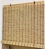 YFY Enrollan Las persianas Sombras - Cortinas de caña Natural - Cortinas de Sobrino Retro, Obturador de decoración de Interior/Exterior, para Patio Balcón Deck Gazebo Color Roman Shade Persianas