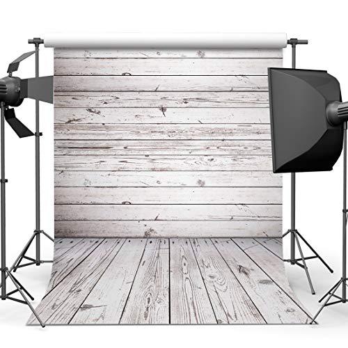 AIIKES 1.5Mx2.1M/5x7FT Tablero de Madera Fotografía Telón de Fondo Vinyl Plank Fotografía Fondos Nacido Bebé Foto Telones de Fondo para el Hogar Estudio Fotográfico 10-924