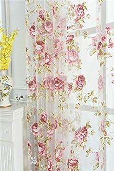 Best rose sheer curtains Reviews