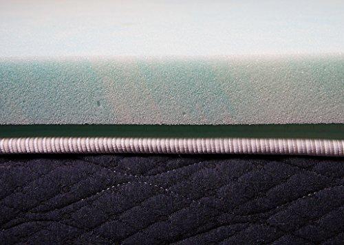 DreamFoam Bedding, 2 Gel Swirl Memory Foam Topper, Made in USA, Queen, Blue