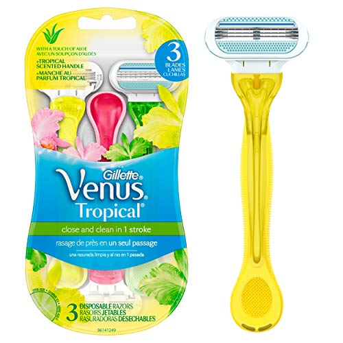 (26% OFF) Gillette Venus Tropical Disposable Razor 3 Pack $6.66 Deal
