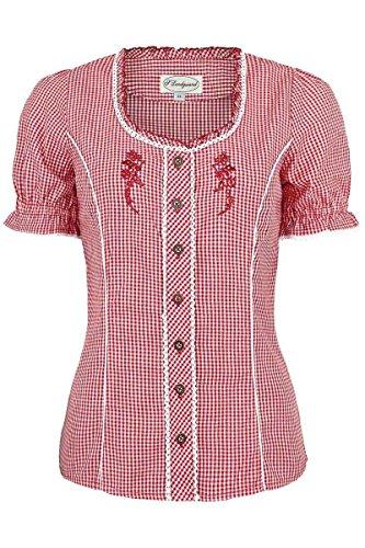 Spieth & Wensky Damen Miederbluse mit Stickerei kariert rot, rot, 50