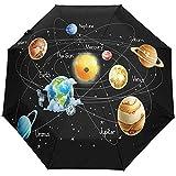 Planificateur de l'espace Extra-atmosphérique du système Solaire 3 Plis Parapluie Anti-UV à Ouverture Automatique