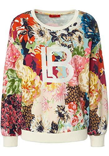 Laura Biagiotti Roma Damen Sweatshirt Sweatshirt mit Allover-Muster