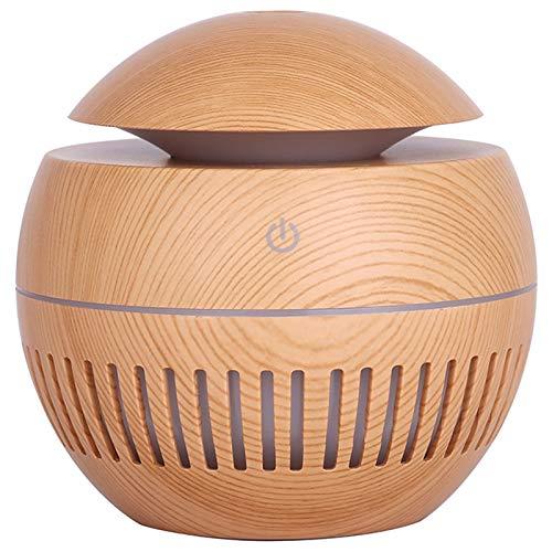 Basage 130Ml Humidificador de Aire Difusor de Aroma USB Difusor de Aceite Esencial EléCtrico para Aromaterapia de Casa Madera Clara