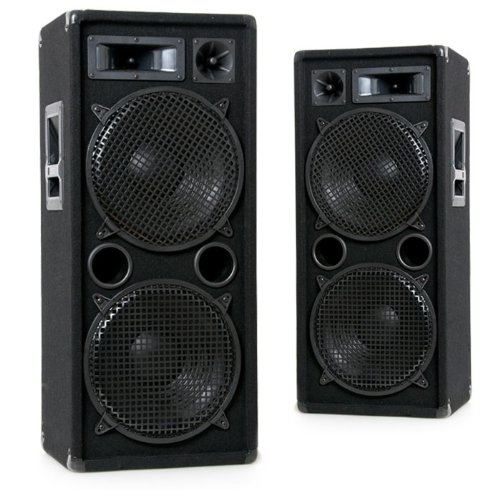 etc-shop 2000W Paar PA Boxen 2 x 30 cm Bass Lautsprecher DJ-Pro 212