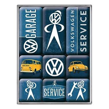 Volkswagen - Box of 9 mini-magnets enamelled