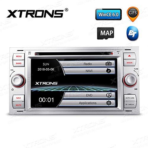 xtrons® Plata 7Pulgadas HD de pantalla táctil estéreo del coche reproductor de DVD con navegador GPS, Bluetooth, RDS Radio de pantalla Función Mirroring para Ford Focus S-Max Mondeo