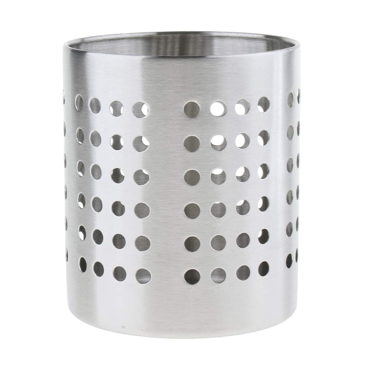 ハンディキャップ覆す聖職者箸スタンド箸立て 金属製 キッチン用品 キッチン収納 ストロースタンド ナイフ 全2サイズ - M