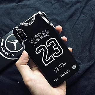 1 piece Hot fly man Jordan soft silicon cover case for iphone 6 6S plus 7 7plus 8 8plus X XR XS Max Luxury Paris Jersey 23 phone coque