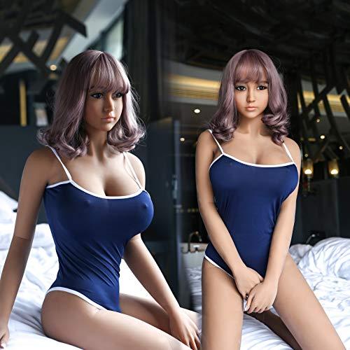 La figura de mujer realista de 168 cm no es un juguete para niños, Modelo de moda Silicona de la entidad juguetes adultos reales muñeca para hombre (168CM-40KG)