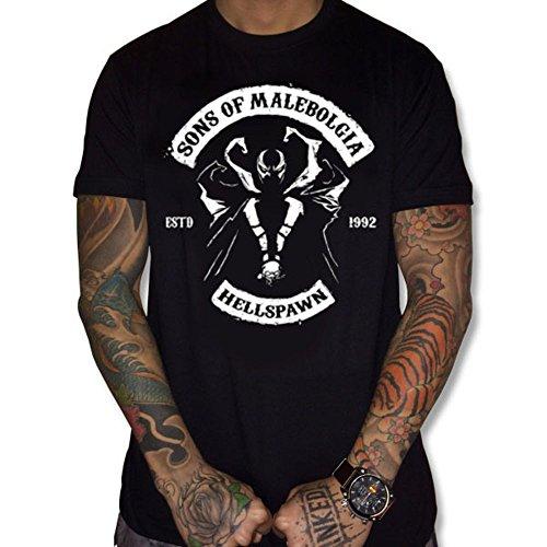 uraeus T-Shirt Song of Malebolgia Hell Spawn (M, Noir)
