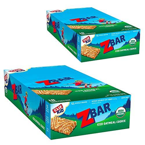 CLIF KID ZBAR - Organic Granola Bars - Iced Oatmeal Cookie - (1.27 Ounce Energy Bars, Lunch Box Snacks, 36 Count)