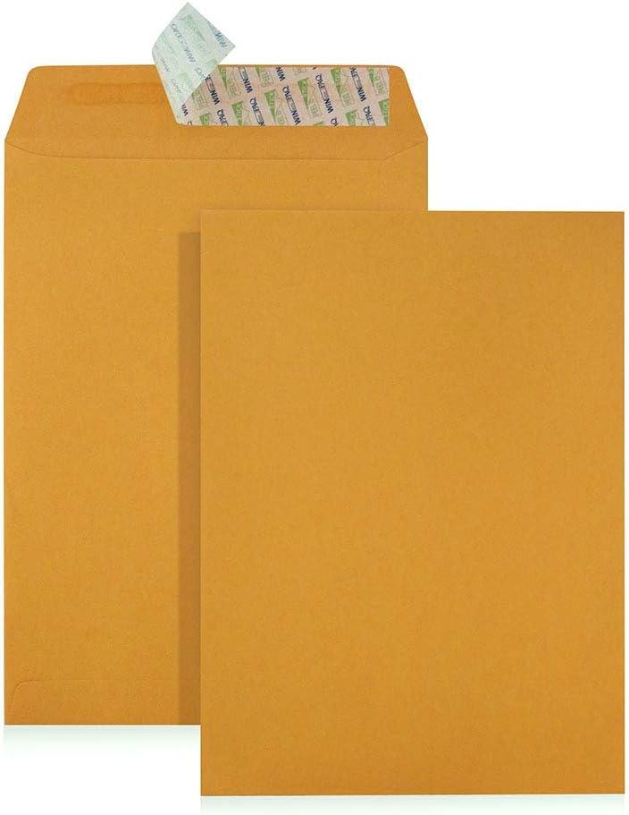"WINPAQ C5 Gold Kraft Peel Seal Pocket 6-3 x Popular brand Pa Envelopes 9"" Popular shop is the lowest price challenge 8"""