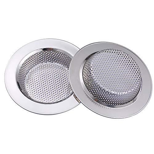 """Yizhet 2 Pcs Filtro per Lavello da Cucina, Cucina Sink Strainer in Acciaio Inox, filtri per lavandini, Vasca da Bagno o lavelli da Cucina - 4,45""""/11,3cm di Diametro"""