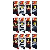 Simpson Socken für Herren, 12 Paar