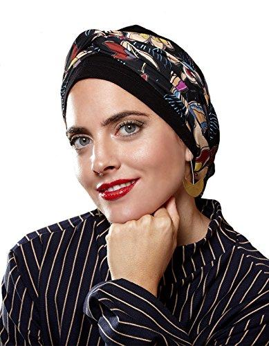 Belle Turban Pretty Pañuelo para la cabeza, Multicolor (F/Blue), One Size (Tamaño del fabricante:One Size) para Mujer