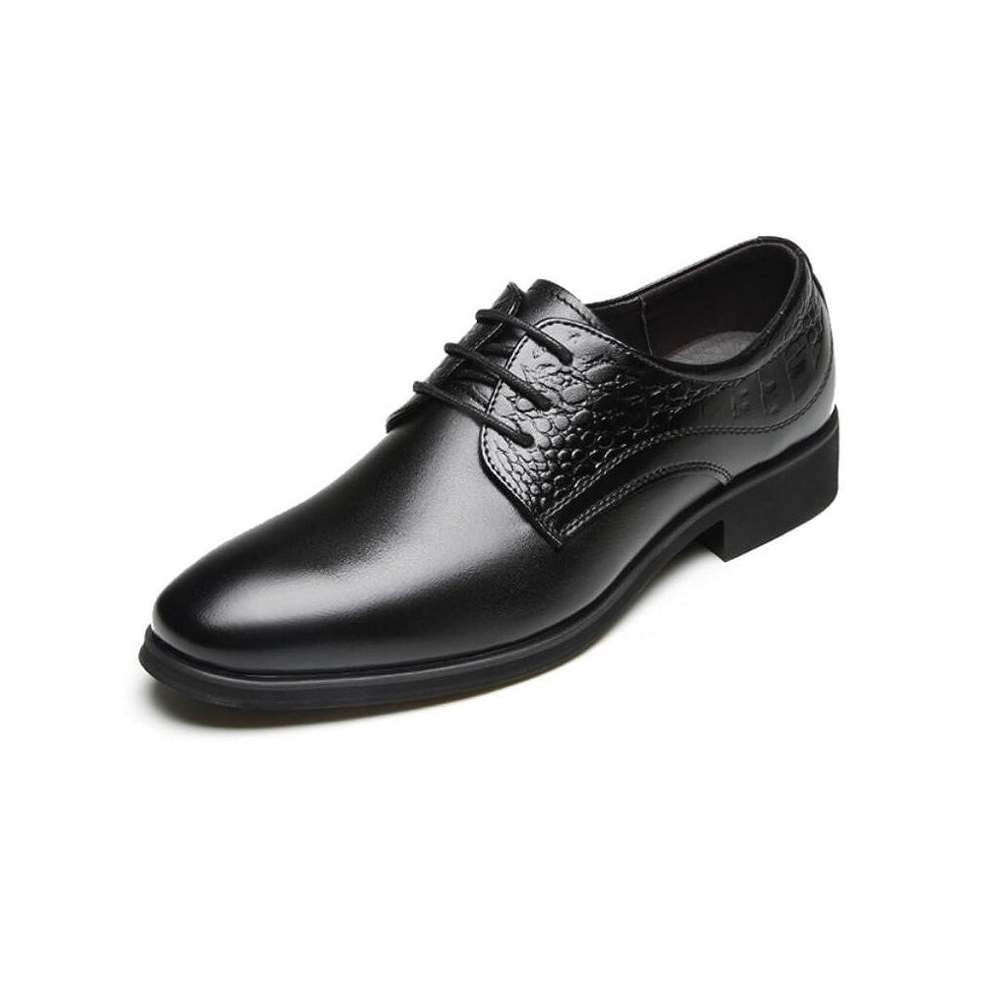 現像ブームパトロンメンズ尖ったつま先の靴, 革ビジネス靴, 春/秋快適/ファッションブラック/ブラウン/パーティー & イブニング/フォーマルシューズ/レザーシューズ,Black,43