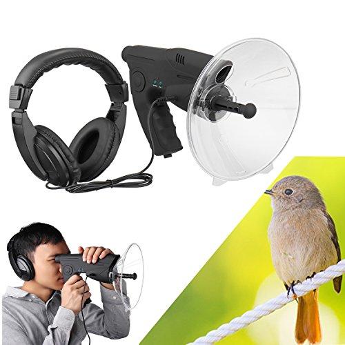 bester Test von parabolmikrofon Seven Shop Parabolmikrofon Monokular X8 Bionic Ear Long Range 200M Vogelhör-Teleskop