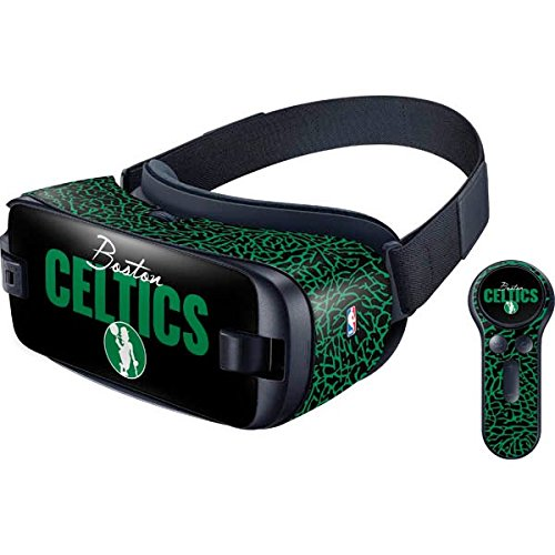 Skinit Decal Other Skin Compatible with Samsung Gear VR with Controller (2017) - Officially Licensed NBA Boston Celtics Elephant Print Design