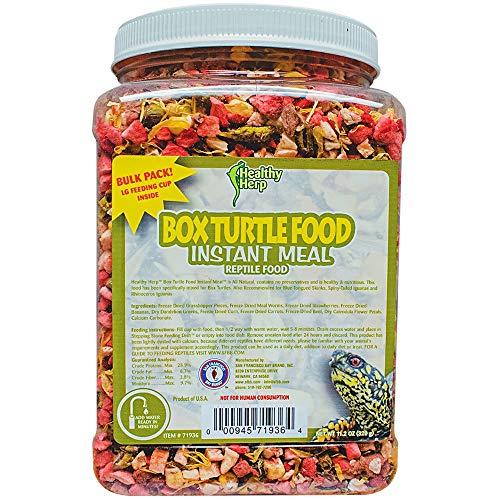Healthy Herp Box Turtle Food Instant Meal Bulk 10.5-Ounce (310 Grams) Jar
