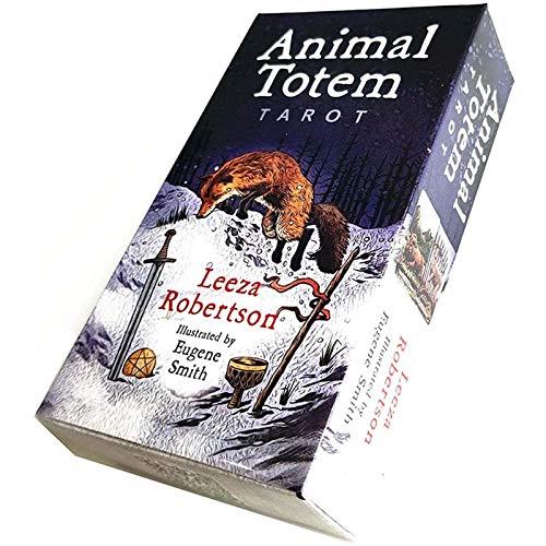 WANGT Tier Totem Tarot,78 Blätter Tarot-Karten,Anfänger Familienfeier Solitaire-Spiel,Wahrsagungsschicksal Deckspiel Tischparty Brettspiel