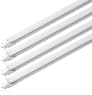 Barrina T8 T10 T12 LED Light Tube, 8ft, R17d, HO, 44W (100W Equivalent), 6500K, 4500 Lumens, R17D Base, Frosted Cover, Dual-Ended Power, Fluorescent Light Bulbs Replacement