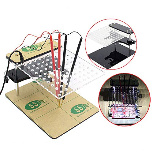 Gtest BDM Frame with Mesh and 4 Probe Pens for FGTECH BDM100 Kess KTAG K-TAG ECU Programmer Tool ECU Modification Program Bracket Brush Test Stand,OnlyFrame