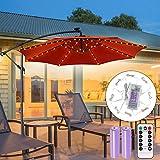 Luce per Ombrellone da Giardino ECOWHO Ricaricabile 104 LED Catena di luci per ombrelli, C...
