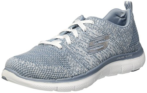 Skechers Damen Flex Appeal 2.0 - High Energy Sneaker, Grau (Slate), 35 EU