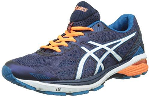 Asics Gt-1000 5 M - Zapatillas de Entrenamiento Hombre, Azul (Indigo Blue/snow/hot Orange), 44 EU