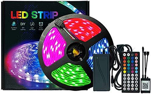 Cuadro de control LED luces de tira, TV LED retroiluminación Bluetooth Music Sync 505 Color Cambiando la tira de iluminación con control de aplicaciones para la cocina y la fiesta de la televisión dom