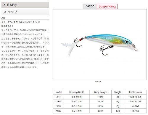 ラパラ(Rapala) エックスラップ 8cm 7g ブラウントラウト X-RAP XR8-TR