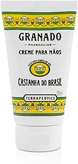 Creme para Mãos Terrapeutics Castanha do Brasil, Granado, Amarelo, 50ml
