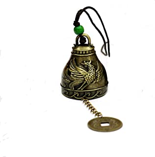 DMtse Chinese Lucky Feng Shui Dragon And Phoenix Vintage Bell for Wealth and Safe, Success, Ward Off Evil, Protect Peace -...