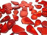 100 g de coral natural coral perlas Set, piedras preciosas corales, piedra natural, gota de perlas, cadena coral Beads colores a elegir, piedra, Siam rojo., 26 ~ 12 mm x 12 ~ 8 mm