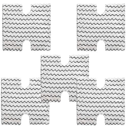 YOKYON 5-Pack Shark Touch Free Dirt Grip Washable Microfiber Pad Replacememt for Shark Lift Away Pro & Genius S3973 S3973D S3973WM S5002Q S5003A S6001 S6002 S6003 Steam Mop,Part # XTP184 & P184WQ