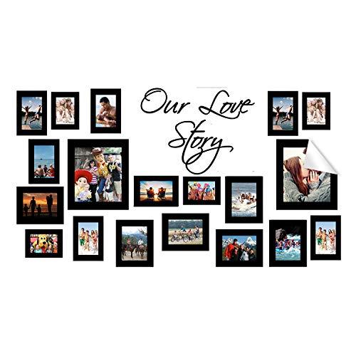 Muurlijst Sticker - fotolijsten Stickers - Foto Vinyl Decals - Polaroid Mini Family Decorated Decal - Foto's DIY Interieur Set Decor Art 31'' x 18'' (80x45 cm)