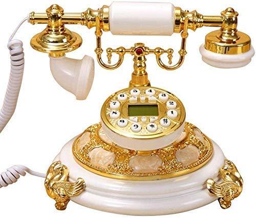 Teléfono con cable Retro Vintage Réplica de teléfono clásico Teléfono de estilo antiguo Dial giratorio Línea fija Teléfono con cable antiguo con cuerpo para oficina Decoración de sala de estar en casa