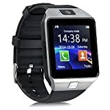 Efanr® DZ09 Bluetooth Smart Watch Phone Mate Bracelet Activity Sport Exercise Fitness Sleep Tracker Pedometer with Camera Touch Screen SIM Card for Android IOS Samsung iPhone Smartphone -Black