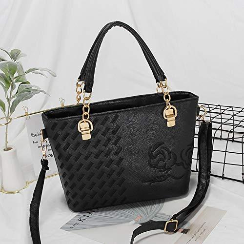 huangyung Bolso de las mujeres un bolso de hombro bordado de moda bolso de las mujeres pendiente bolso de gran volumen