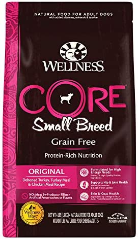 Wellness CORE High Protein Grain Free Natural Small Breed Dry Dog Food, Turkey