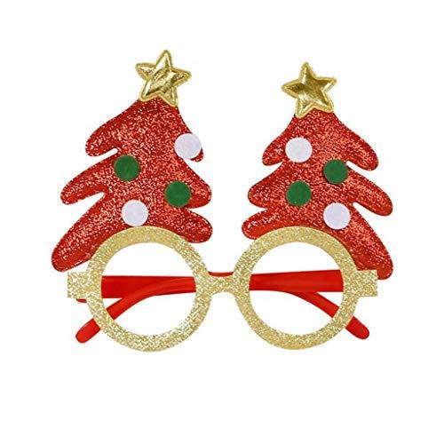 Lester Nell decorazione natalizia bicchieri divertenti occhiali Babbo Natale cappello renna occhiali da sole costume ornamento festa decorazione bicchieri