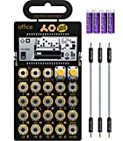 Teenage Engineering PO-24 Pocket Operator Office Noise Sequencer Bundle with Blucoil 3-Pack of 7' Audio Aux Cables, and 4 AAA Batteries