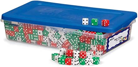 hand2mind Red, Green and White Dot Dice (Set of 144)