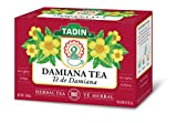 Tadin Herb & Tea Co. Damiana Herbal Tea, Caffeine Free, 24 Tea Bags, Pack of 6
